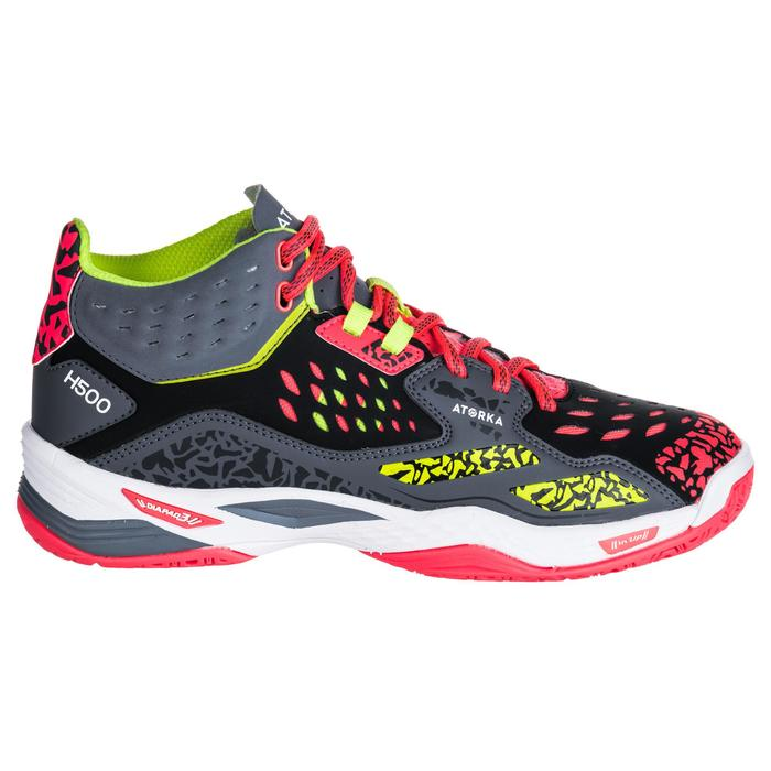 Chaussures de handball Mid femme noires et jaunes