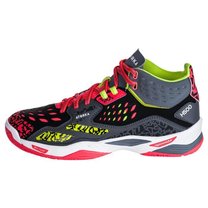 Chaussures de handball Mid femme grises et roses - 1347779