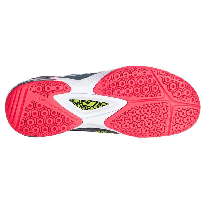 Handballschuhe H500 hoch Damen schwarz/gelb
