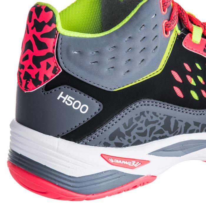 Chaussures de handball Mid femme grises et roses - 1347781
