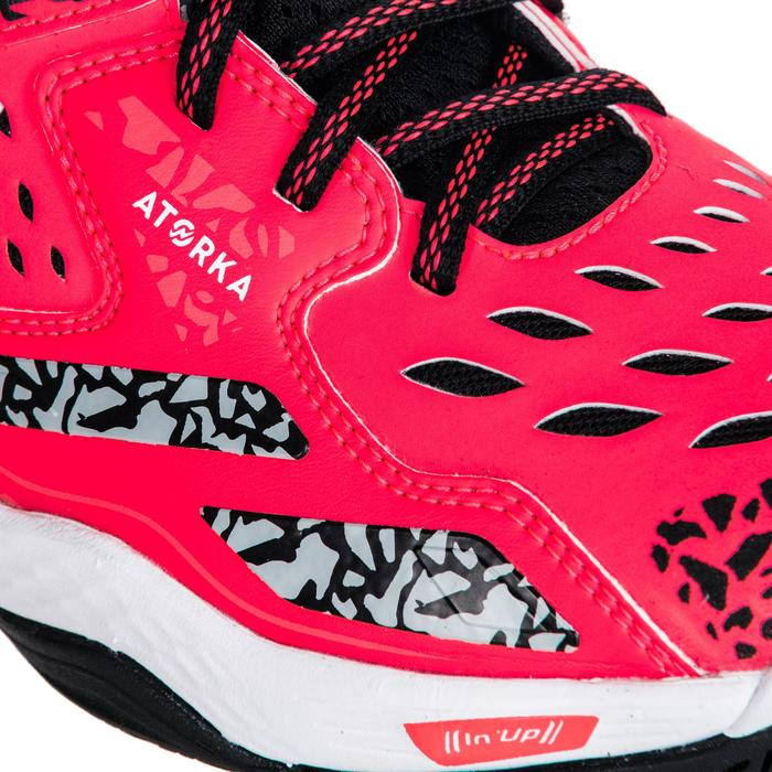 Chaussures de Handball H500 adulte noires et rouges - 1347784
