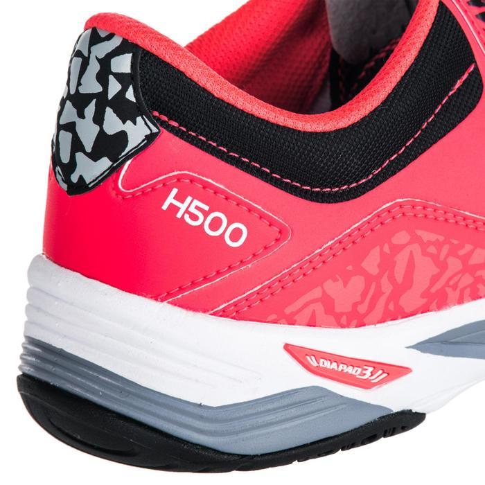Chaussures de Handball H500 adulte noires et rouges - 1347785