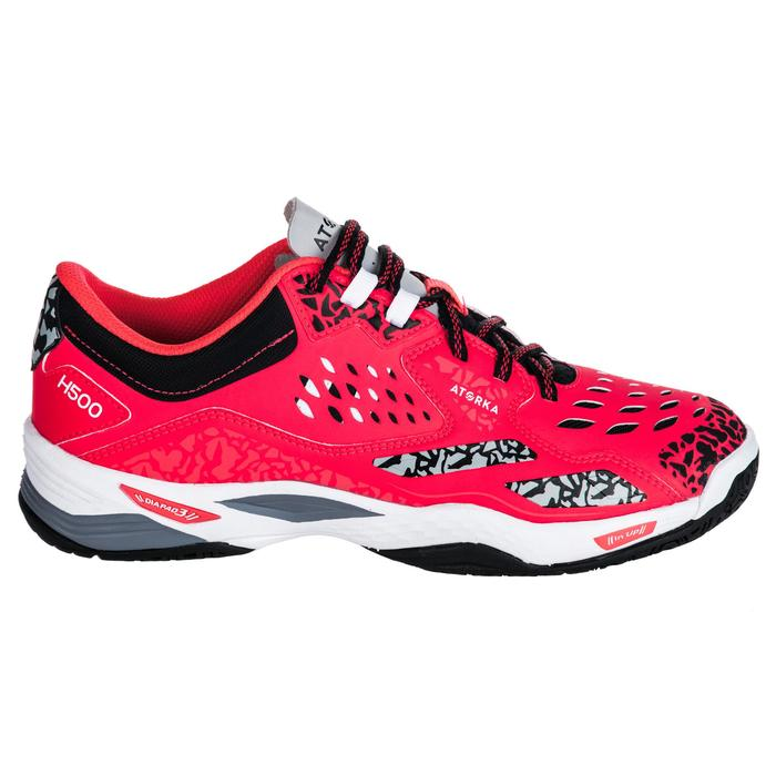 Chaussures de Handball H500 adulte noires et rouges - 1347787