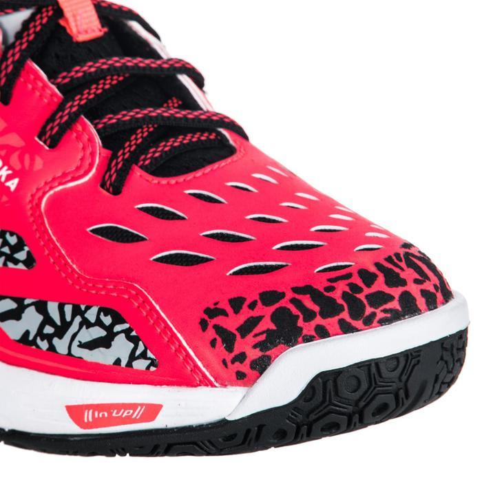 Chaussures de Handball H500 adulte noires et rouges - 1347788
