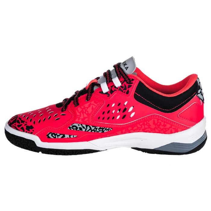Chaussures de Handball H500 adulte noires et rouges - 1347789