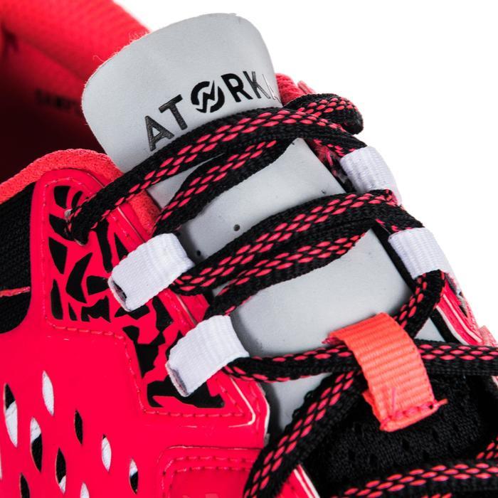 Chaussures de Handball H500 adulte noires et rouges - 1347790