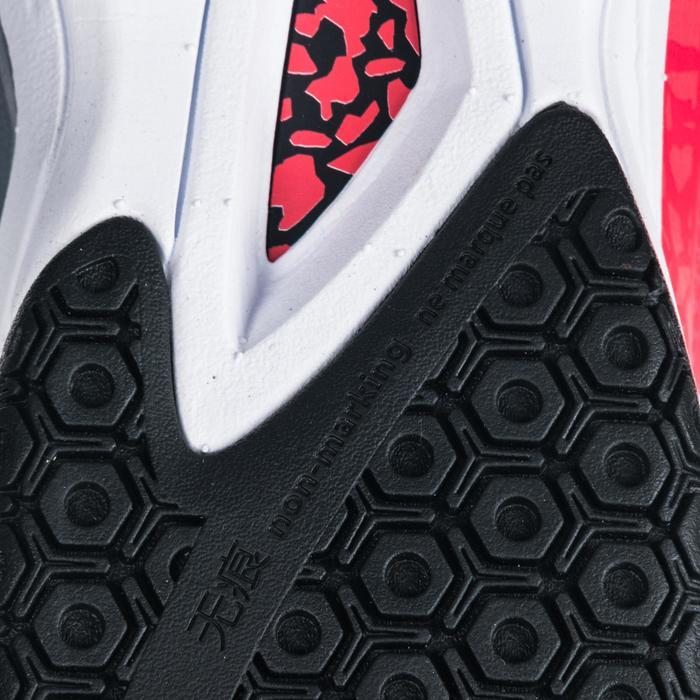 Chaussures de Handball H500 adulte noires et rouges - 1347791
