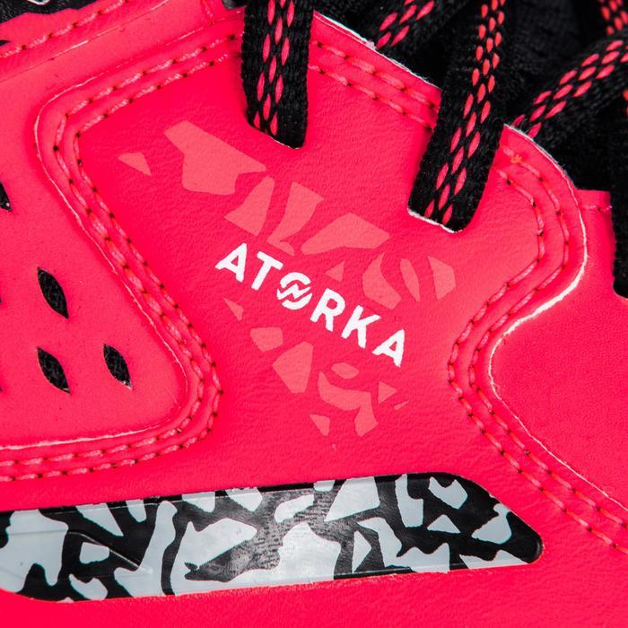 Chaussures de Handball H500 adulte noires et rouges - 1347792