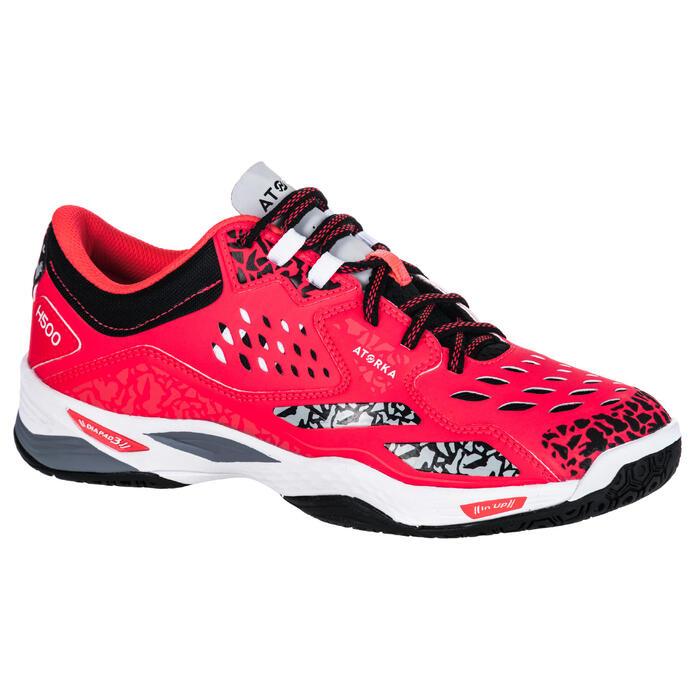 Chaussures de Handball H500 adulte noires et rouges - 1347793