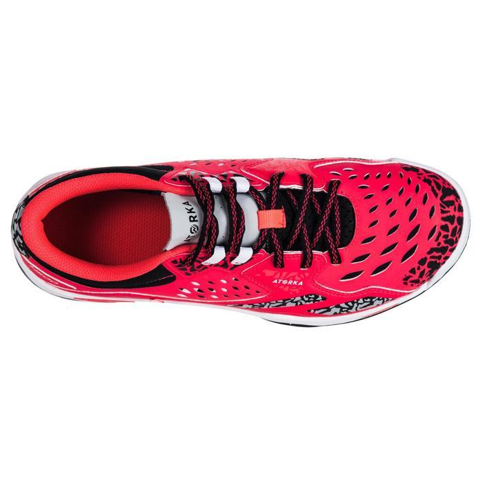 Chaussures de Handball H500 adulte noires et rouges - 1347796