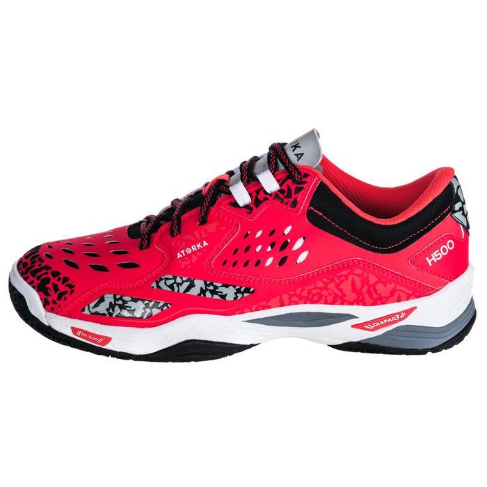 Chaussures de Handball H500 adulte noires et rouges - 1347797