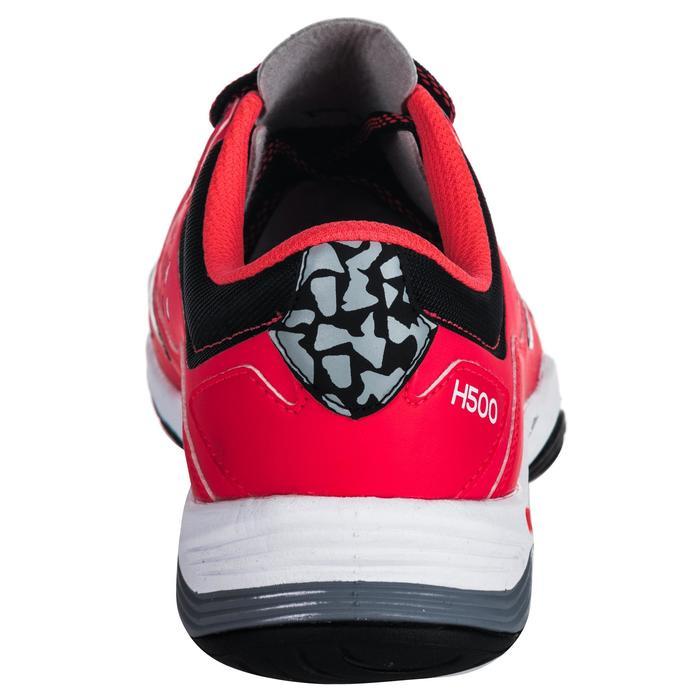 Chaussures de Handball H500 adulte noires et rouges - 1347798
