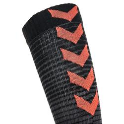 Handbalsokken voor volwassenen zwart/rood