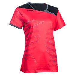 Handbalshirt dames H500 roze / zwart