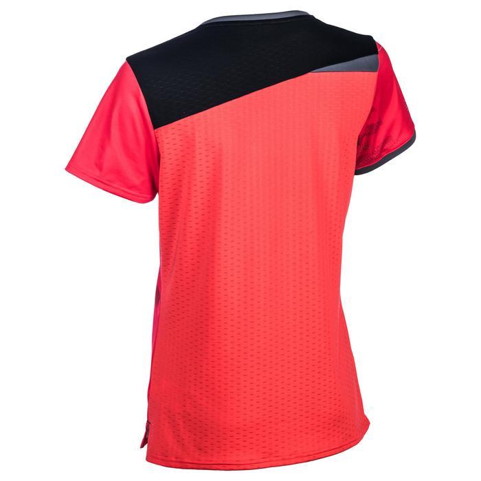 Handbalshirt voor dames H500 roze en zwart