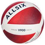 Allsix Volleybal V900 wit/rood