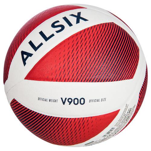 ballon de volley ball v900 blanc et rouge fivb