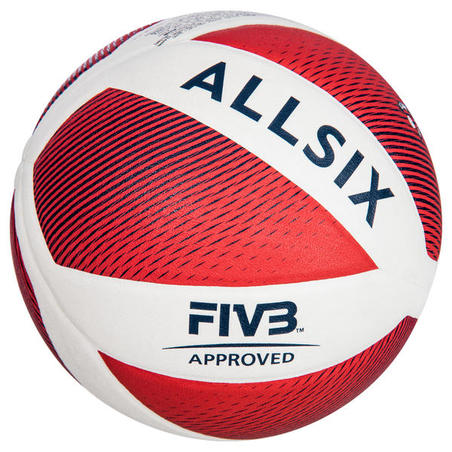 Ballon de volleyball V900 blanc et rouge