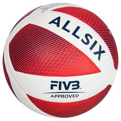 Ballon de volley-ball V900 blanc/rouge
