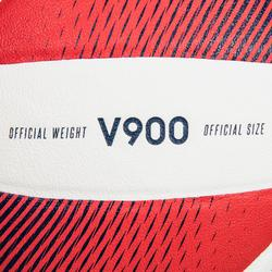 Volleyball V900 weiß/rot