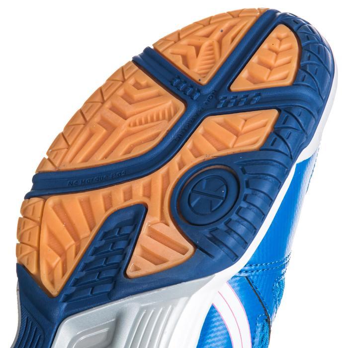 Chaussures de volley-ball femme Gel Spike bleues et roses.