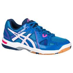 Zapatillas de voleibol mujer Gel Spike azul y rosa