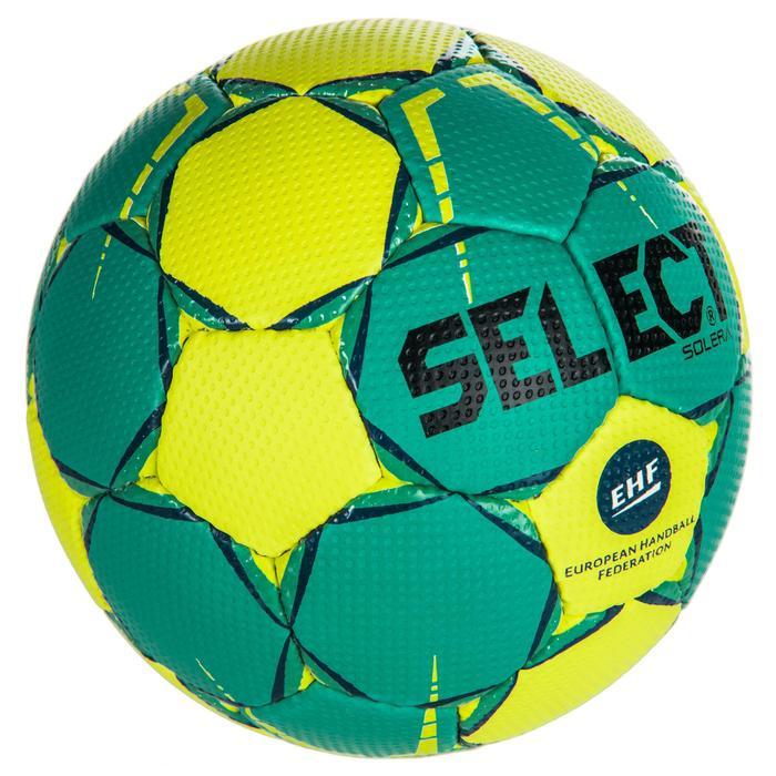 Ballon de handball adulte solera T3 vert / jaune