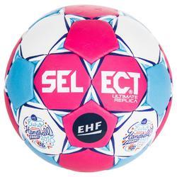 Ultimate replica bal maat 2, EK handbal dames roze/blauw/wit