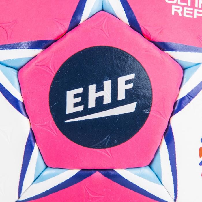 Ballon de handball ultimate replica de l'euro femme taille 2 rose bleu blanc