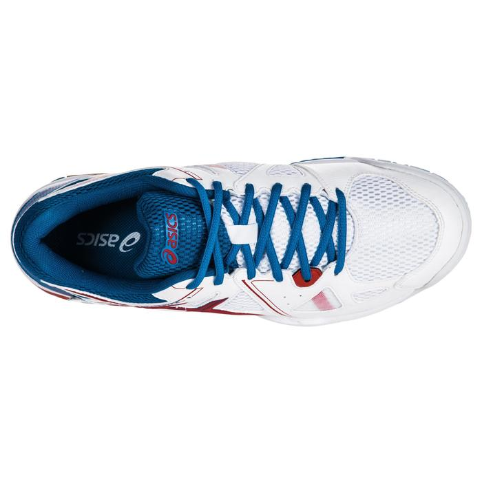 Chaussures de volley-ball homme Gel Spike bleues et blanches.