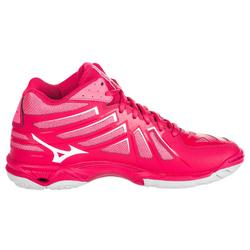 Chaussures de volley-ball femme wave hurricane mid roses