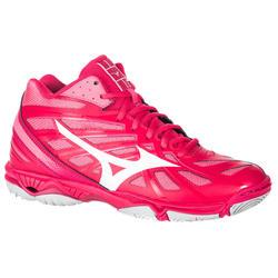 7dd78dba781 Zapatillas de voleibol mujer Wave Hurricane mid rosa