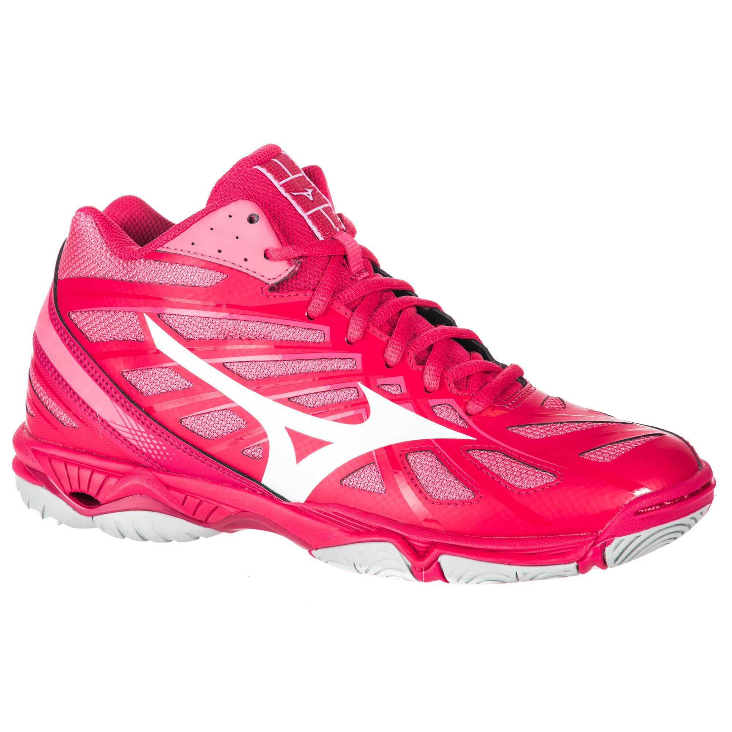 huge discount 51053 1e454 ... czech chaussures de volley ball femme wave hurricane mid roses mizuno  d64aa 08a4b