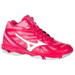 Volleybalschoenen dames Wave Hurricane mid roze
