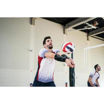 Bal volleybal V500 wit, blauw en rood
