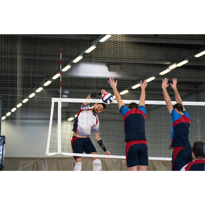 Volleyball V500 weiss/blau/rot