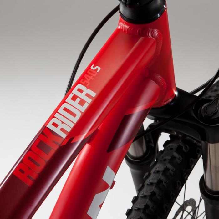 "Bicicleta de Montaña Rockrider 540 S 27,5"" Rojo"