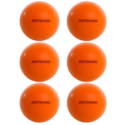 כדורי ספוג שקטים לטניס שולחן דגם PPB 100 x 6 - כתום
