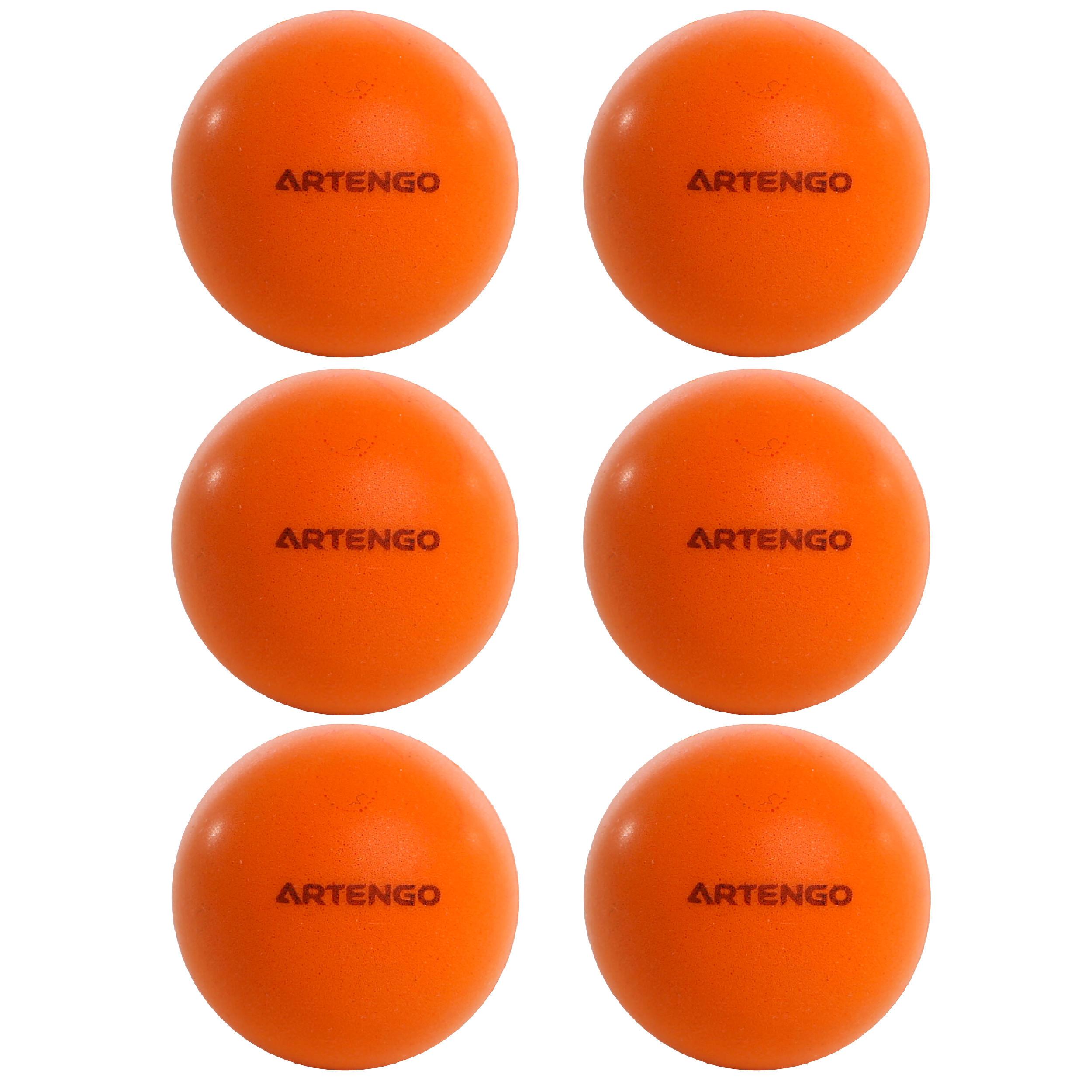 6 Balles de Ping Pong Tennis de Table Blanches ou Oranges