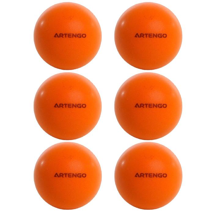 BALLES DE TENNIS DE TABLE MOUSSE PPB 100 SILENT X 6 ORANGE - 1348054