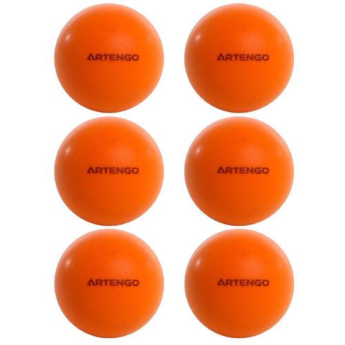 6 balles de tennis de table en mousse
