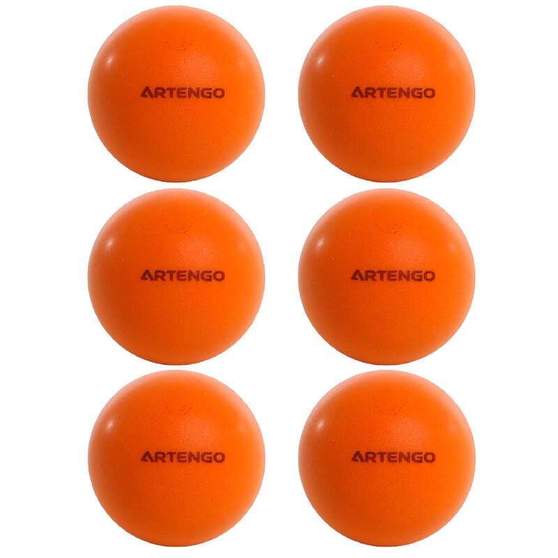 CONJ FREE ESPAÇO REDUZIDO Ping Pong - BOLA PING PONG 100 LARANJA X6 PONGORI - Material de Ping Pong