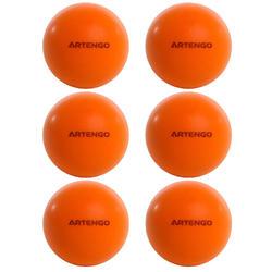 Tafeltennisballetjes van schuim PPB 100 Silent X 6 oranje