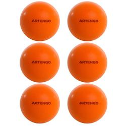 BALLES DE TENNIS DE TABLE MOUSSE PPB 100 SILENT X 6 ORANGE