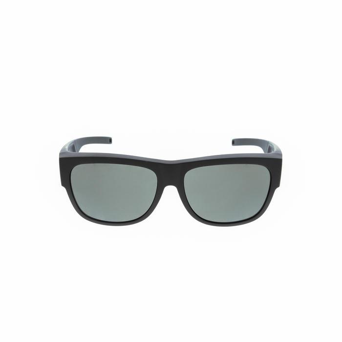 Sonnenüberbrille polarisierend Wandern MH500 OTG Kategorie 3 schwarz
