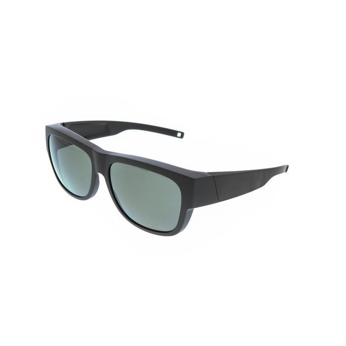 Aufsteckbrille Vision Cover 500 schwarz polarisierende Gläser Kategorie 3