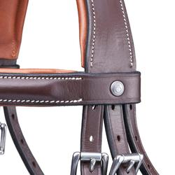 Cabezada Equitación Fouganza PULL BACK Caballo Marrón