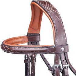 Hoofdstel ruitersport maat paard PULL BACK bruin