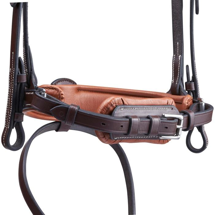 Cabezada de montar caballo PULL BACK marrón