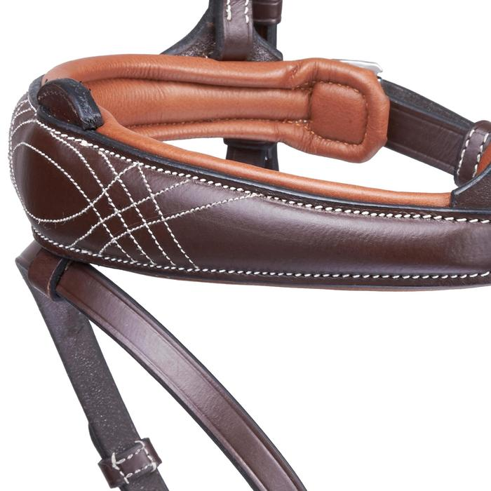Bridon équitation PULL BACK marron - taille cheval